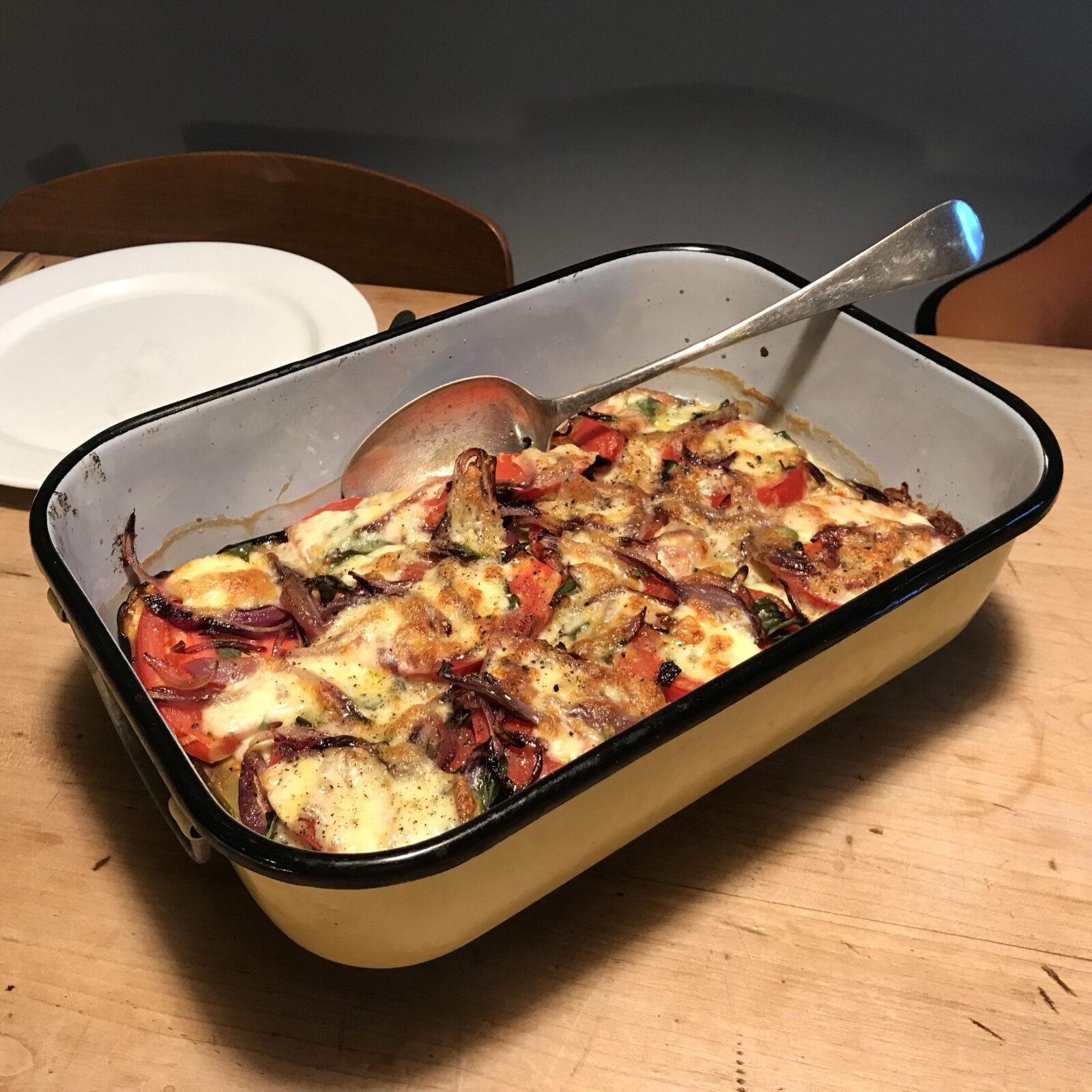 Auberginen Gratinata mit Tomaten und Mozzarella